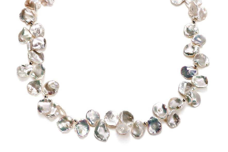 Keshiperlen-Collier Perlenblätter,